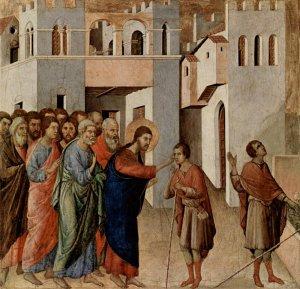 The Healing of a Blind Man, Duccio di Buoninsegna c. 1310