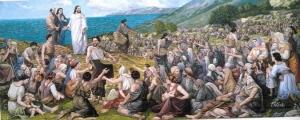 Jesus Feeds the Multitudes (artist unknown)