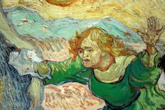 Raising of Lazarus After Rembrandt (detail), by Vincent Van Gogh (1890)