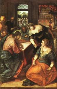 Christ in the House of Martha and Mary, by Tintoretto (c. 1575)