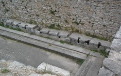 Public toilets from the Basilica in Philippi