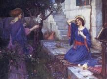 Annunciation, by John William Waterhouse (1914)