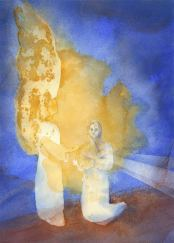 Annunciation by John Meng-Frecker.  Used by permission. See more at www.Catholic-Artists.org