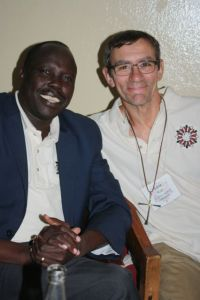 Deacon Gabe from USA and Elder Daniel from South Sudan