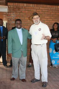 With the General Secretary of the CCAP, the Rev. Alex Maulana.