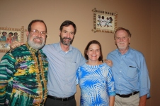 Hunter Farrell and Elizabeth Little, flanked by Ken White and myself