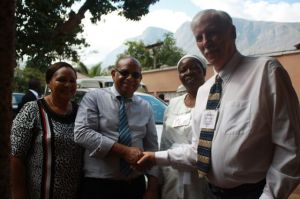 Gregg with Mr. and Mrs. Inglis as well as Holiness, a Partnership Committee member