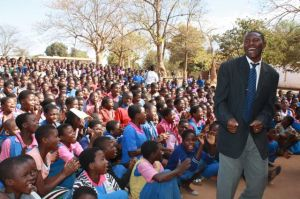 A portion of the student body at Michongwe School.