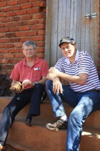 Randy and John relaxing at the Farm