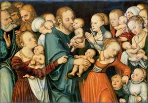 Christ Blessing the Children Lucas Cranach the Elder, c. 1535–40