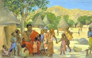 Jesus and the Children, from MAFA: Christian Art in the African Tradition. Used by permission. http://www.jesusmafa.com/?lang=en