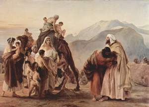 Esau and Jacob Reconcile (Francesco Hayez, 1844)