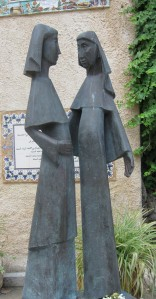 Statue of the Visitation at the Church of the Visitation in Ein Karem, Israel