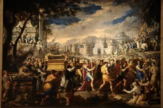 David Bearing the Ark of Testament into Jerusalem Domenico Gargiulo, 1609-1675