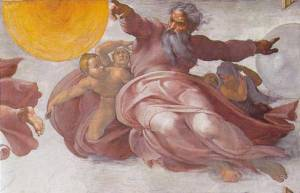 Creation of the Sun, Moon, and Vegetation, Michelangelo, c. 1510
