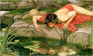 Echo and Narcissus (detail), John William Waterhouse, 1903.