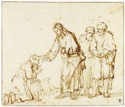 Christ Healing a Leper, Rembrandt (1650-55)