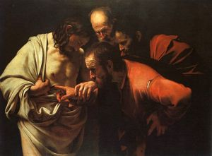 The Incredulity of Saint Thomas, Caravaggio (1603)