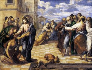 Healing the Man Born Blind, El Greco, 1570