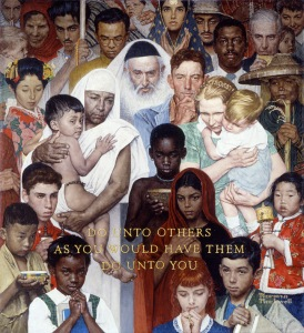 The Golden Rule, Norman Rockwell, 1961