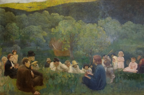Sermon on the Mount, Karoly Ferenczy (1896)