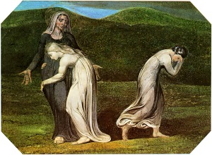 """Naomi Entreating Ruth and Orpah to Return to the Land of Moab"", William Blake (1795)"