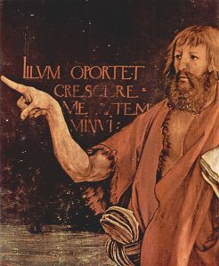 John the Baptist, detail from The Isenheim Altarpiece, Matthias Grünewald (1512-1516)
