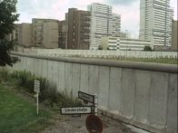 The Berlin Wall in the late 1980's