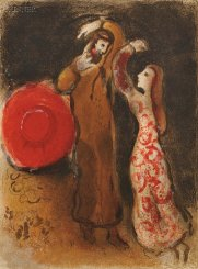 """The Meeting of Ruth and Boaz"", Marc Chagall (1960)"