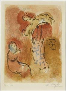 Ruth Gleaning, by Marc Chagall (1960)