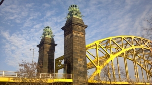 The Northside terminus of the 16th Street Bridge