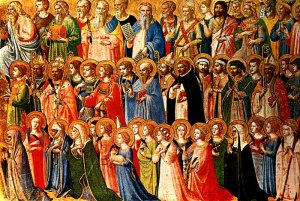 The Forerunners of Christ with Saints and Martyrs (Fra Angelico, about 1423-24)
