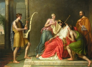 David Playing his Harp before Saul, Christian Gottlieb Schick (1776 - 1812)