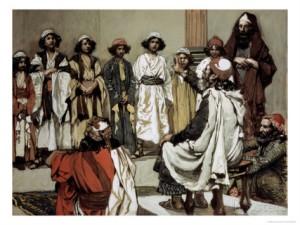 Jesse Presents His Sons to Samuel, James Tissot (1836-1902)