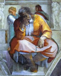 Jeremiah, by Michelangelo (1512).