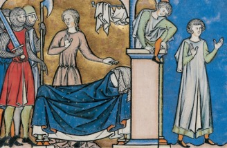 Illustration from the Maciejowski Bible, c. 1250, France.