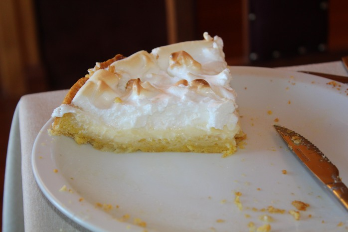 I'm not sure how traditional it is, but we were served a lemon meringue pie for breakfast on Thanksgiving! I think Uncle John would approve.
