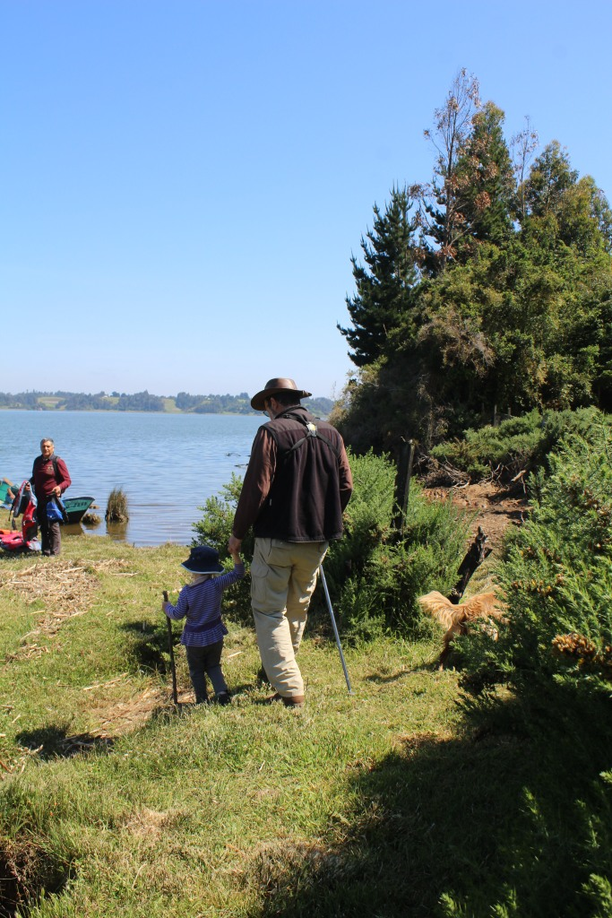 A walk down to the lake, which is surrounded by 120 Mapuche communities (about 13,000 people).