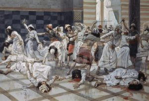 Saul Commands Doeg to Slay the Priests, James Tissot (1836-1902).