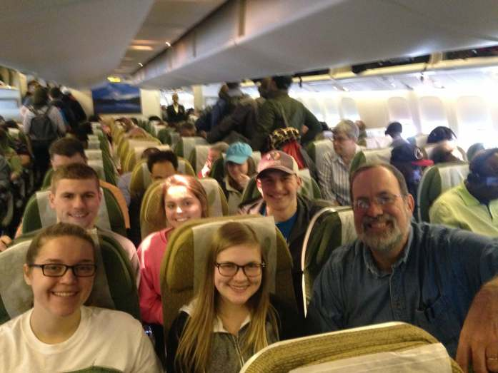 The CHUP Malawi Mission Team 2016-2017 on board Ethiopian Airways in DC!