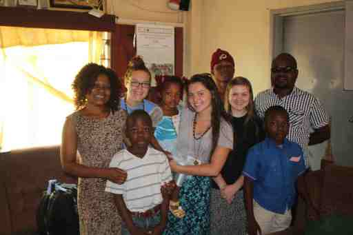 The girls and their Malawian Family!