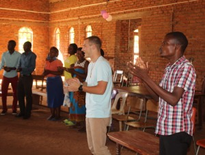 David with Gift, one of the Youth Leaders at Mbenjere