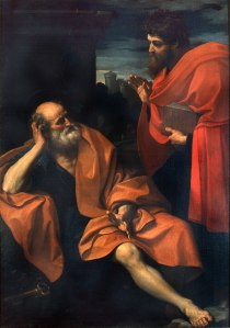 Paul Rebukes Peter (Guido Reni), 1609