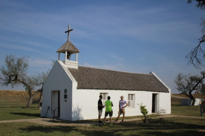La Lomita (the small hill) was first built in 1865 It was an important site for the Calvary of Christ, the Oblate missionaries who rode up and down the Rio Grande Valley visiting widely separated Catholic churches, baptizing newborns, performing marriage ceremonies and blessing the dead.