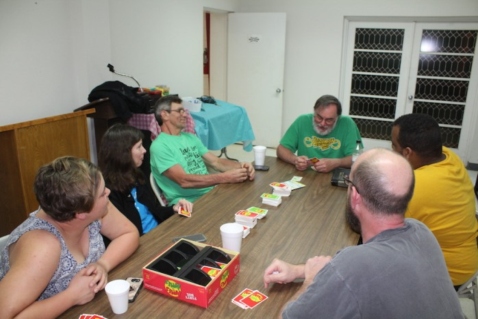 A little game of Apples to Apples helps us to socialize...